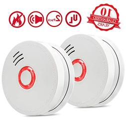 Smoke Alarm Fire Alarm,2 Pack Smoke Detector with Test Butto