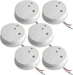 NEW Hardwire Home Wired Smoke Alarm Detector Fire Sensor Bat