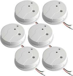 NEW Hardwire Home Wired Smoke Alarm Detector Fire Sensor Bat