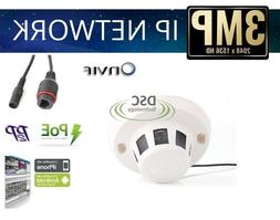 HD 1080P 3MP Smoke Detector IP Camera Mini Dome CCTV Indoor