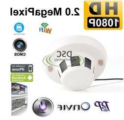HD 1080P Smoke Detector Covert Hidden IP Spy Camera 3.6mm, W