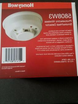 Honeywell 5808w3 Photoelectric Wireless Smoke  And Heat Dete