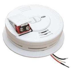 KIDDE i12060 Smoke Alarm,Ionization,120VAC, 9V