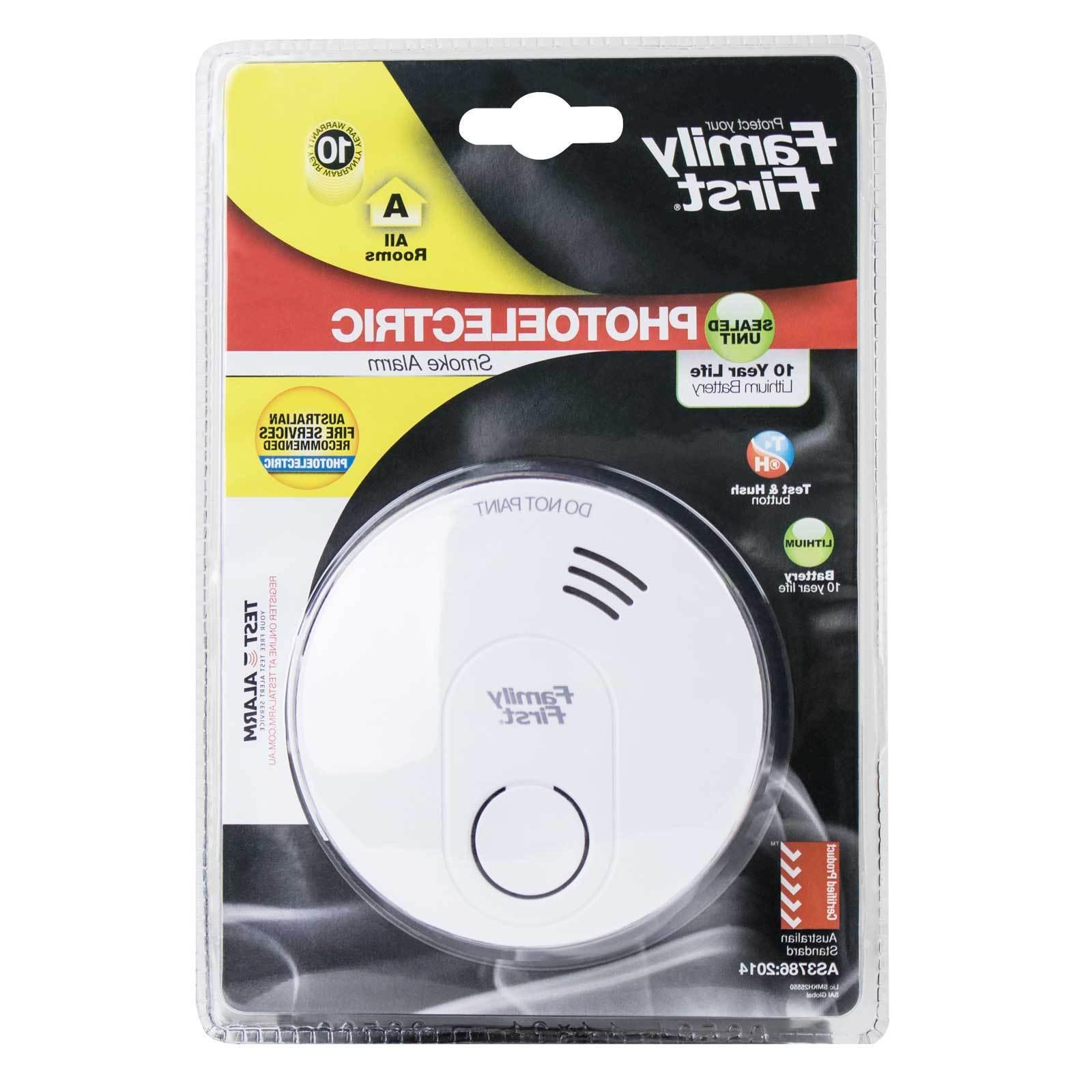 10 year lithium photoelectric smoke alarm no