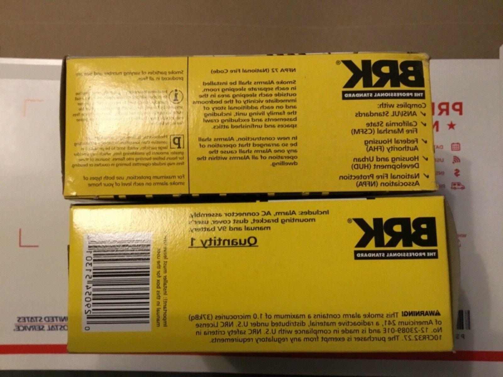 2-BRK 120V Smoke 9V Battery Backup Not aCO Detector