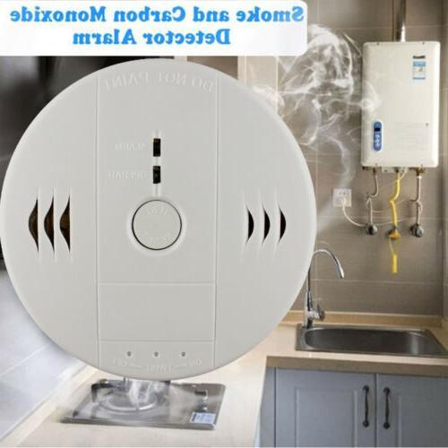 2 in 1 Carbon Monoxide and Smoke Alarm Sensor Warning CO Smo