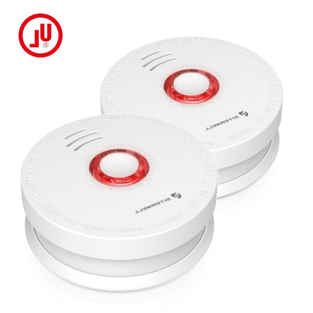 2 pack smoke detector and battery operated