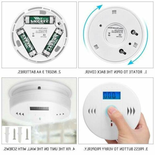 2Pack Monoxide Detector Voice Loud Home