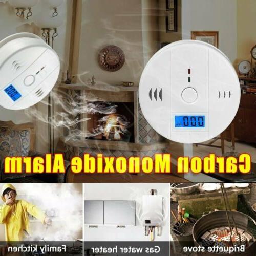 2Pack Monoxide Detector Detector Voice Alert Loud Alarm Home