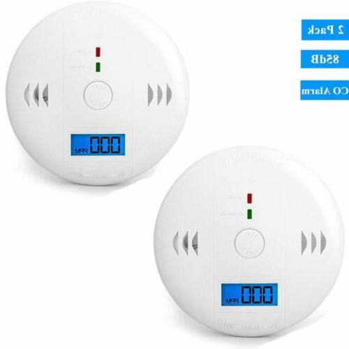 2pack co carbon monoxide detector alarm co