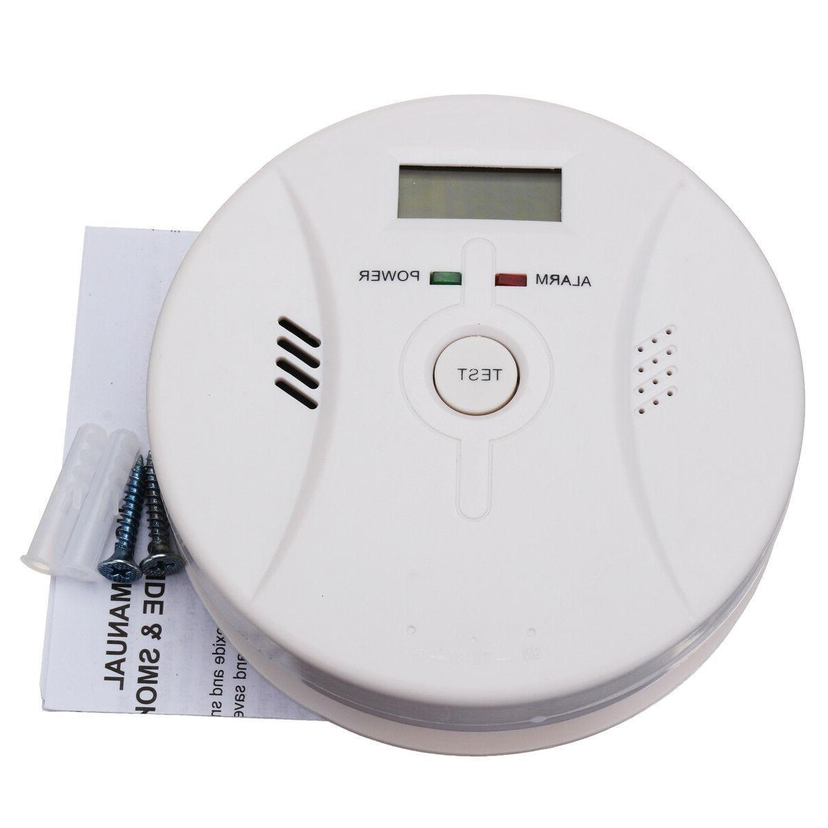 2×US Combination Carbon Smoke Alarm CO Detector