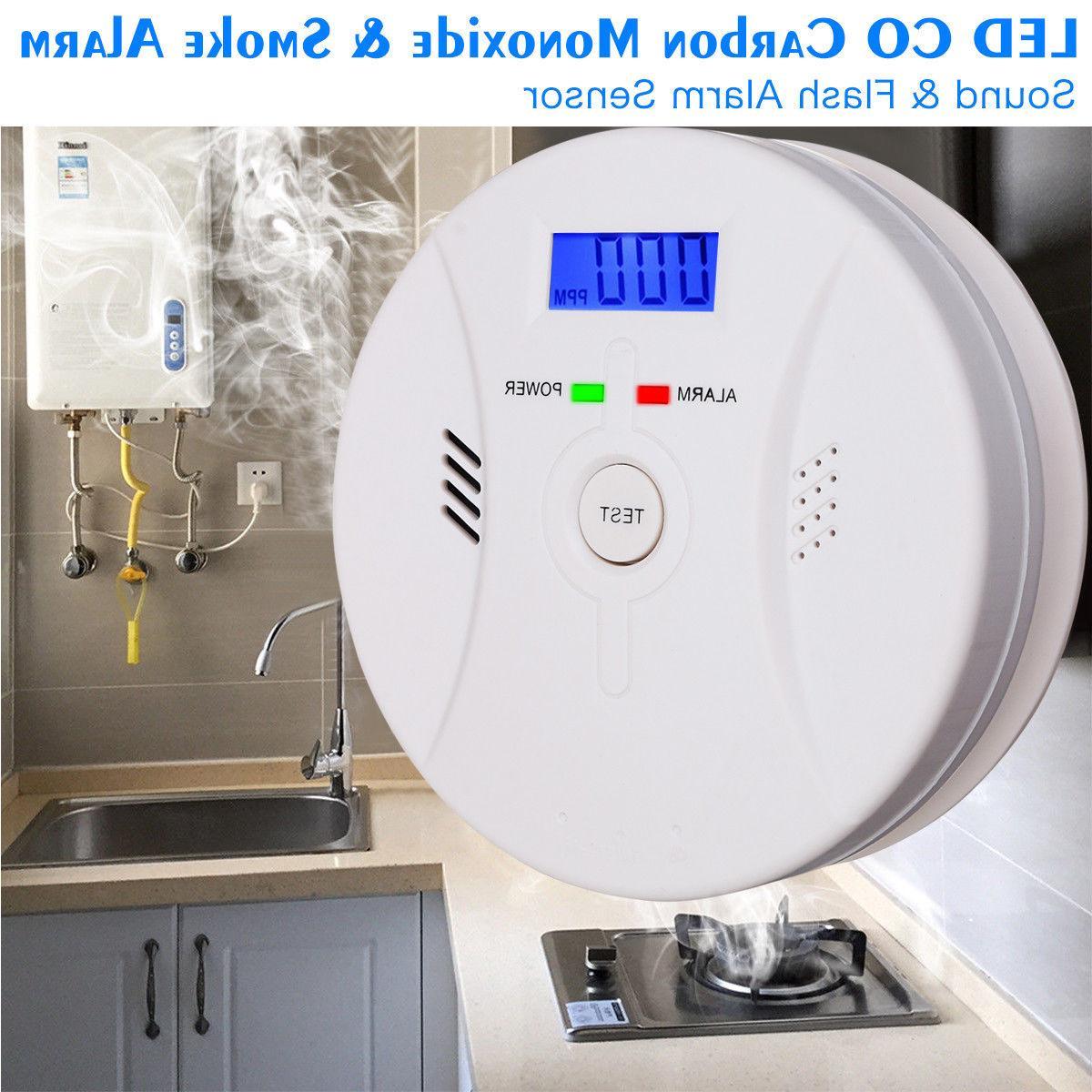 2×US Combination Carbon Monoxide Smoke Alarm CO Smoke