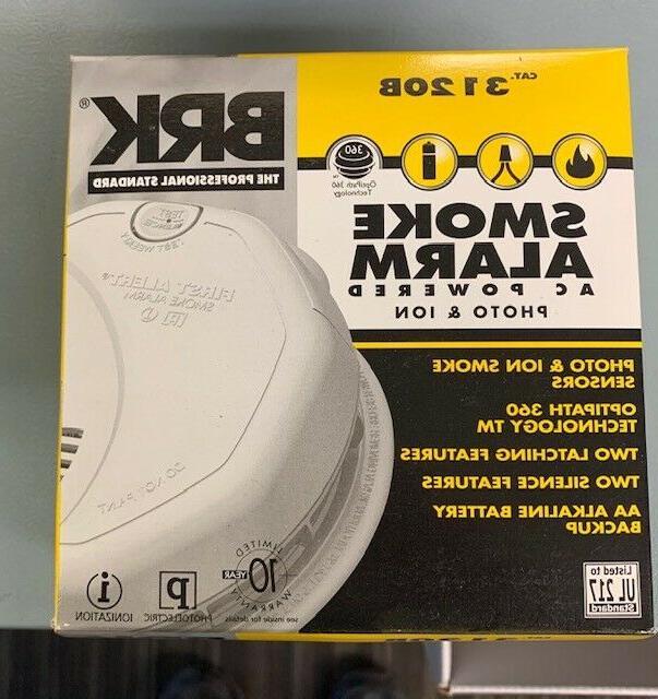 3120b smoke alarm ac powered w battery