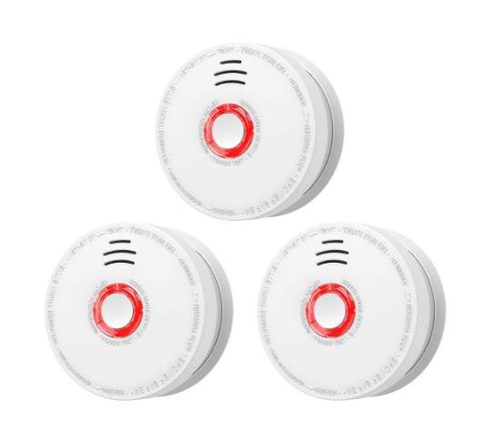 3pack smoke detector fire alarm with test