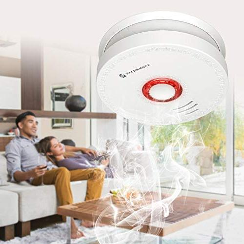 Siterlink Smoke & Battery-Operated Smoke Alarm/Detector Button, Photoelectric Fire Dector/Alarm Listed