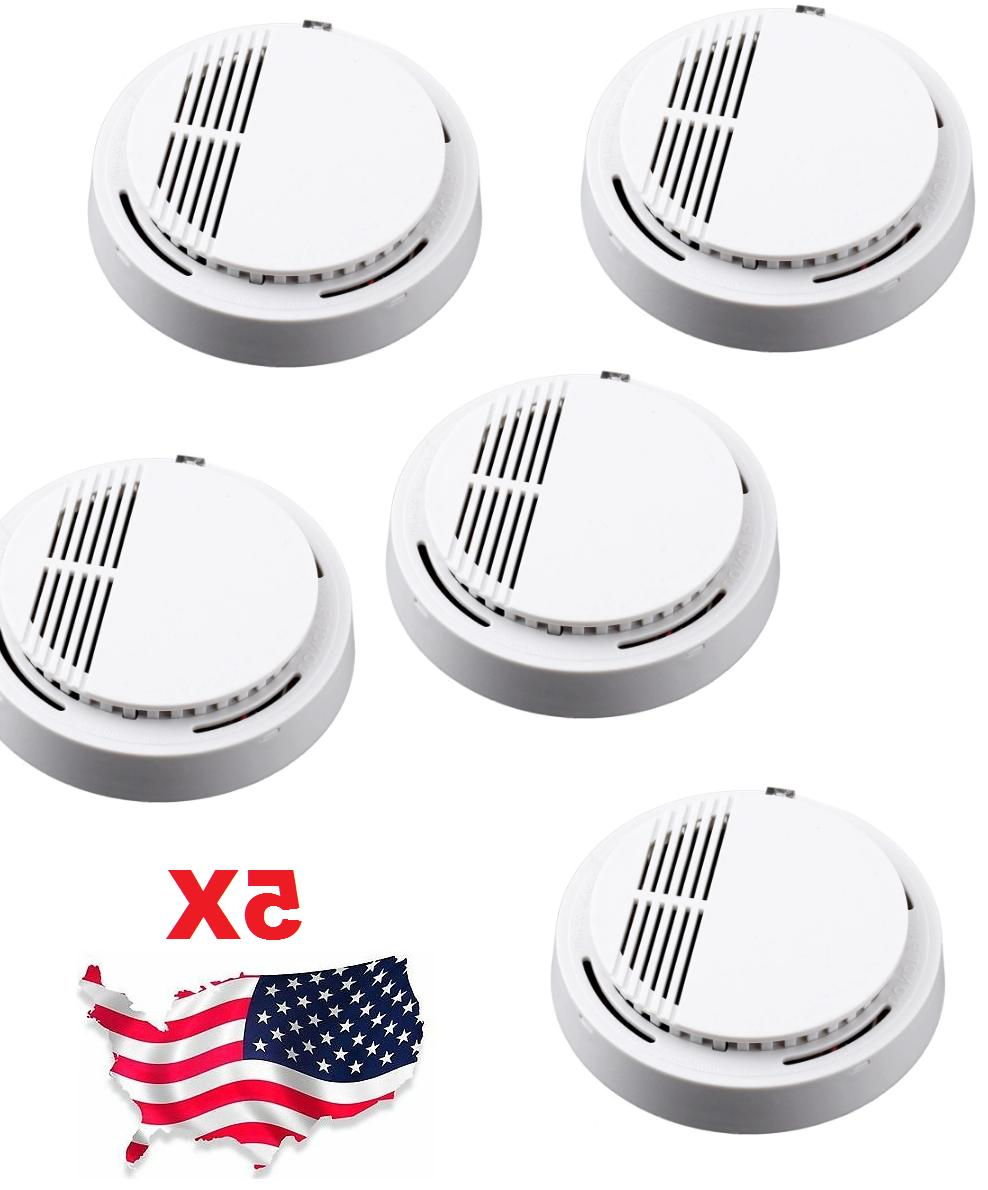 5x wireless fire detector home safety fire
