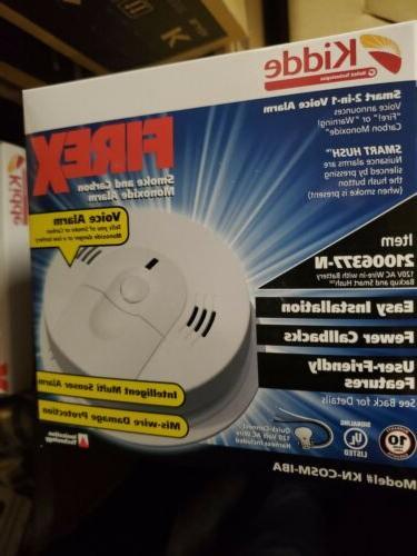 6 Kidde KN-COSM-IBA Smoke & Carbon Monoxide Alarm Wire-In AC