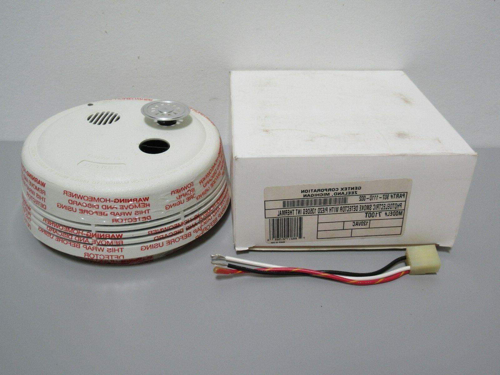 Gentex 7100T Smoke Alarm, 120V AC Photoelectric w/ Integral