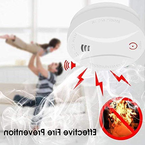 2 Smoke Alarm with Photoelectric Sensor,Easy Button