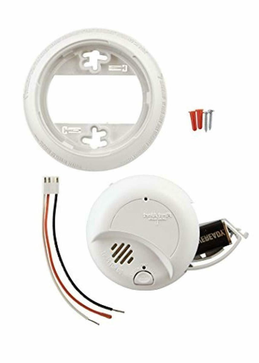 First Hardwired Smoke Alarm Carbon Monoxide Battery NEW