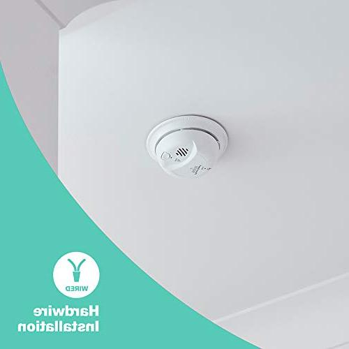 First Hardwired Smoke Carbon Monoxide Detector with Backup, Pack