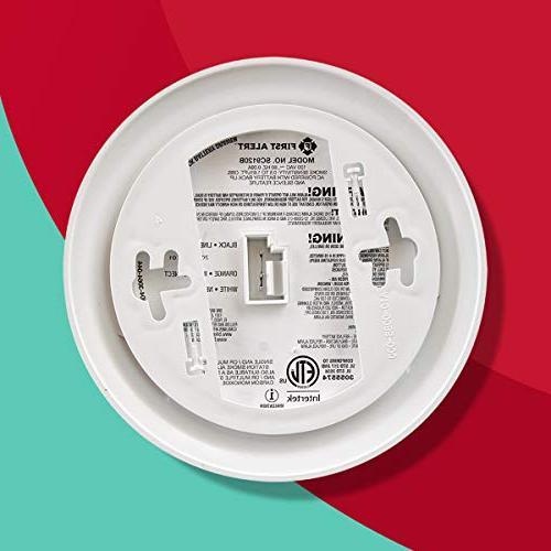 First Alert BRK Hardwired Smoke Monoxide Detector Backup,