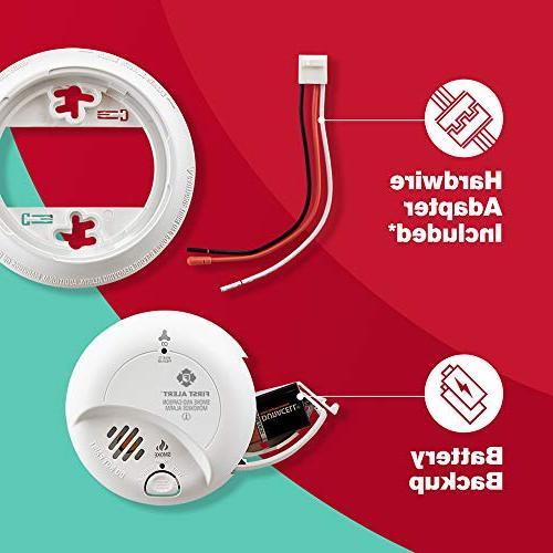 First Alert Hardwired Smoke Carbon Monoxide Detector Backup,