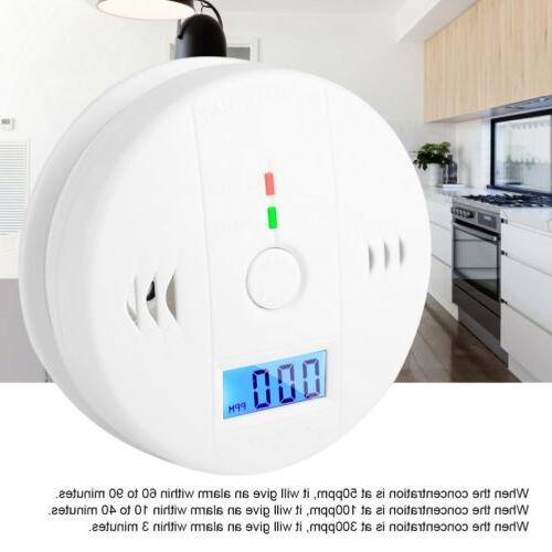 Carbon Monoxide Detector Alarm CO Gas Sensor Poisoning Gas L