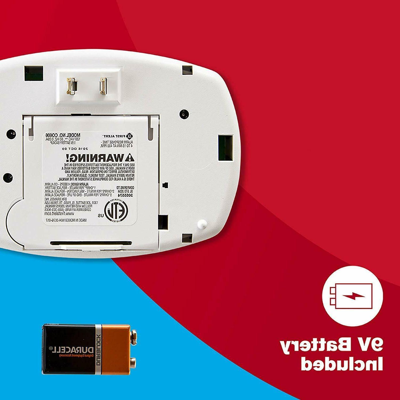 First Alert Carbon Monoxide Detector Alarm Plug-In with Battery Backup,