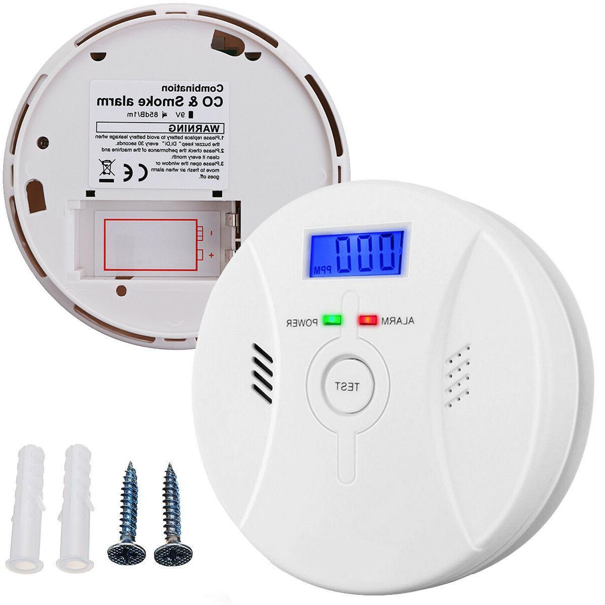 2×US Monoxide Smoke Battery CO Detector