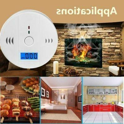 Carbon Monoxide Smoke Alarm with Voice Warning LCD Digital