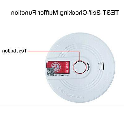 co carbon monoxide and smoke detector warning