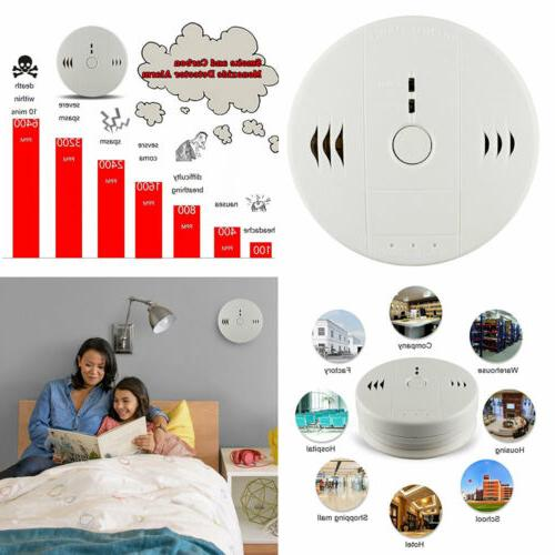 combination smoke and carbon monoxide detector alarm