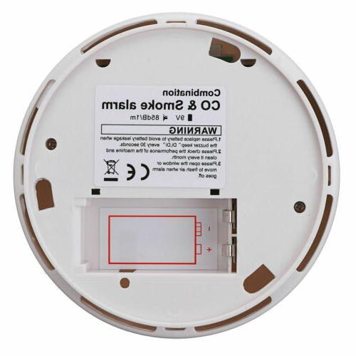 Monoxide Detector and Smoke Alarm Battery Operate