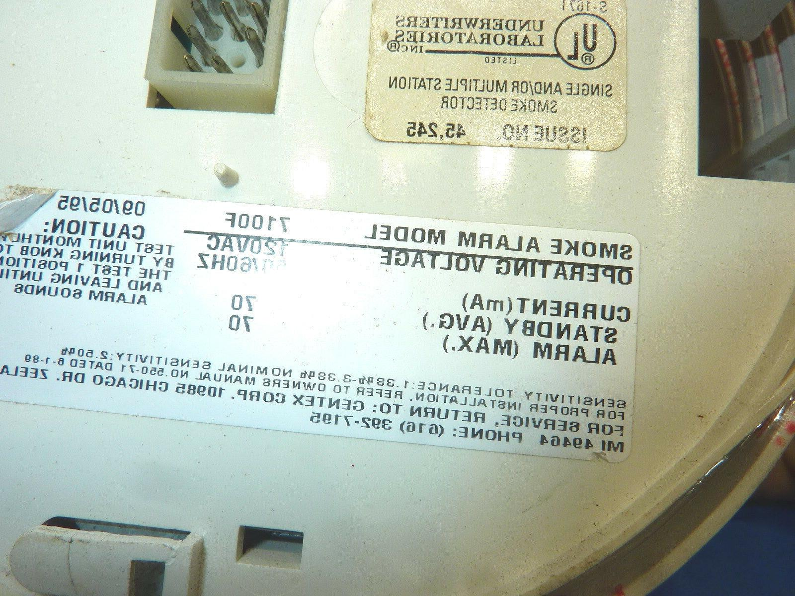 Gentex Corporation 907-1104-002 Smoke 7100F