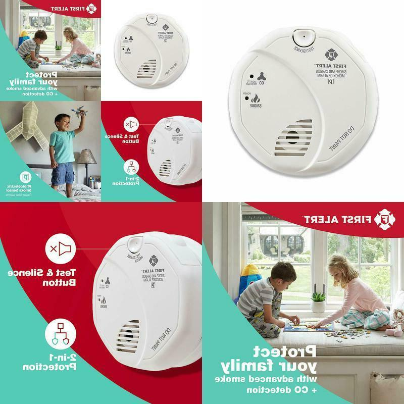 fire and smoke detector and carbon monoxide