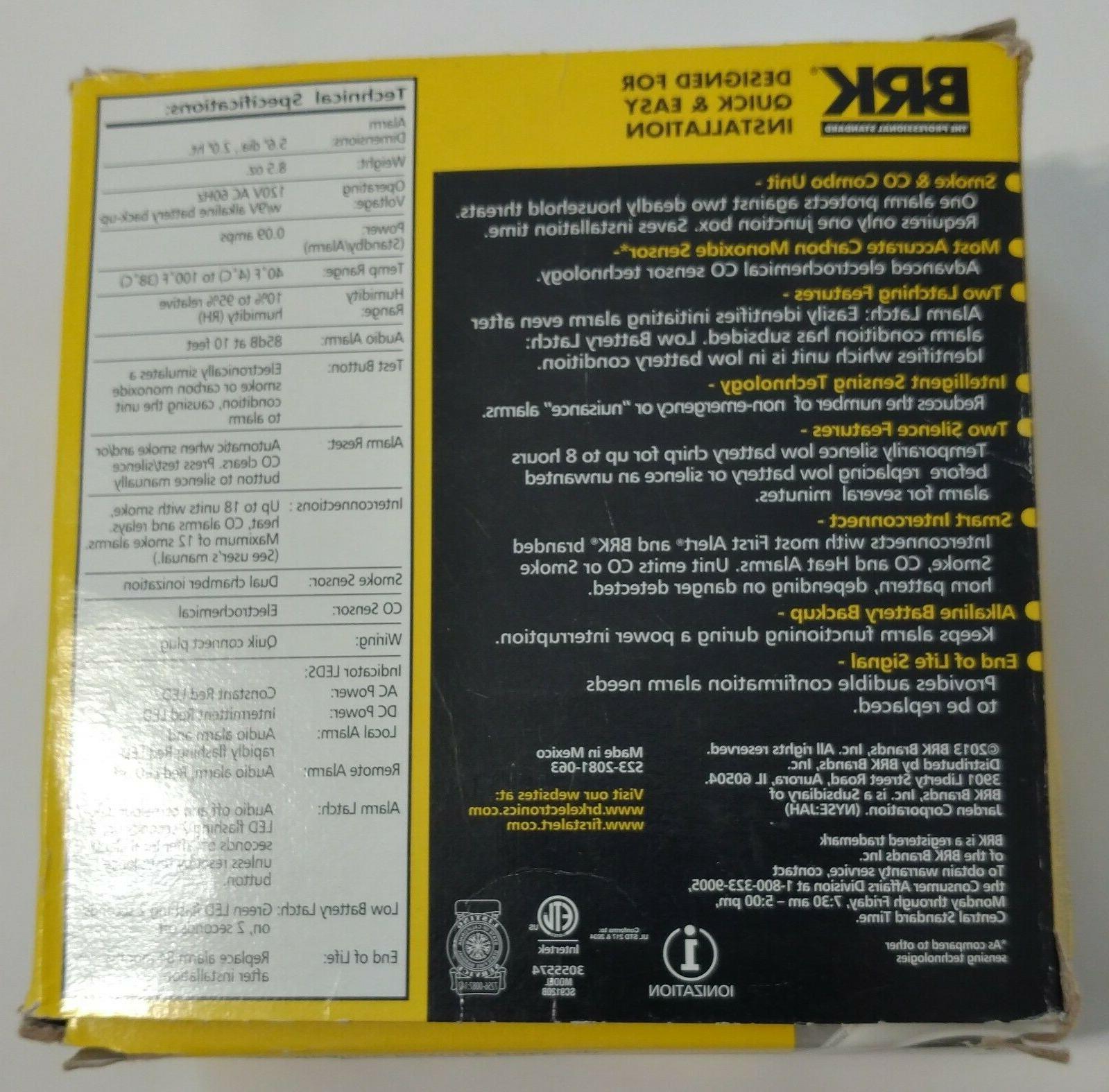 BRK First Alert SC9120B Carbon Monoxide Batterybackup