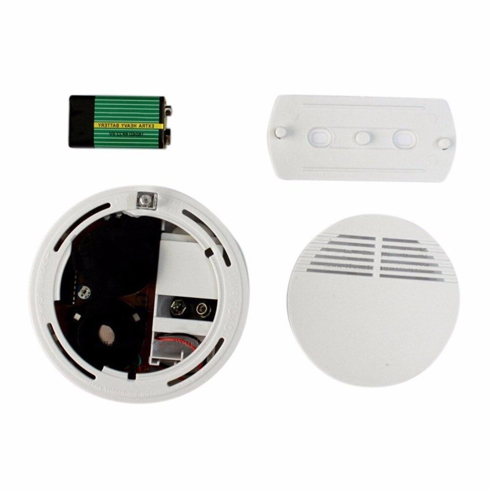 <font><b>Photoelectric</b></font> <font><b>Detector</b></font> More than 85dB Independent Fire <font><b>Smoke</b></font> Sensor For Security 9V Batteries