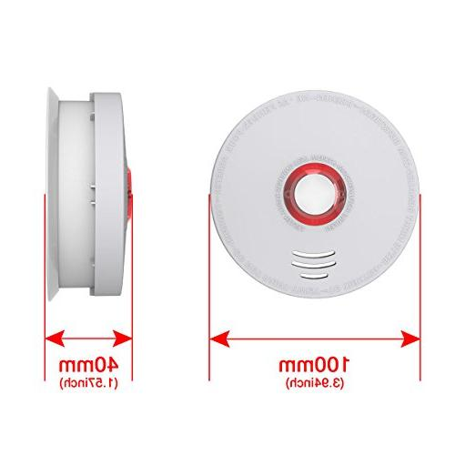 Smoke Pack Smoke Fire Alarm Listed Battery-Powered Years Time, Save Lives Fire at Home, Hotel,