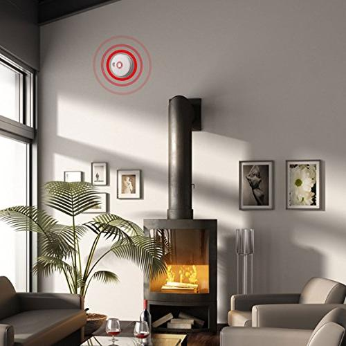 Smoke Detector, 2 Pack Photoelectric Fire UL Listed GS528A Battery-Powered Years Life Time, Lives When Happen at Hotel,
