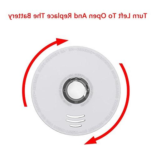 Smoke Detector, Ardwolf 2 Pack Photoelectric Fire Listed Battery-Powered ,10 Lives Fire at Hotel,