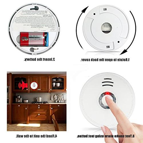 Smoke Pack Smoke Detector Test Powered with UL Safety for Bedroom,Kitchen,Corridor,Bathroom Hotel