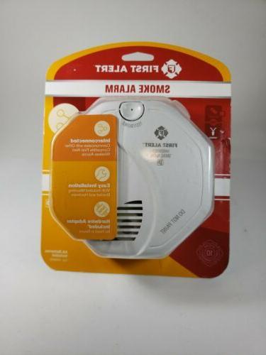 hardwire aa batteries included photoelectric sensor smoke