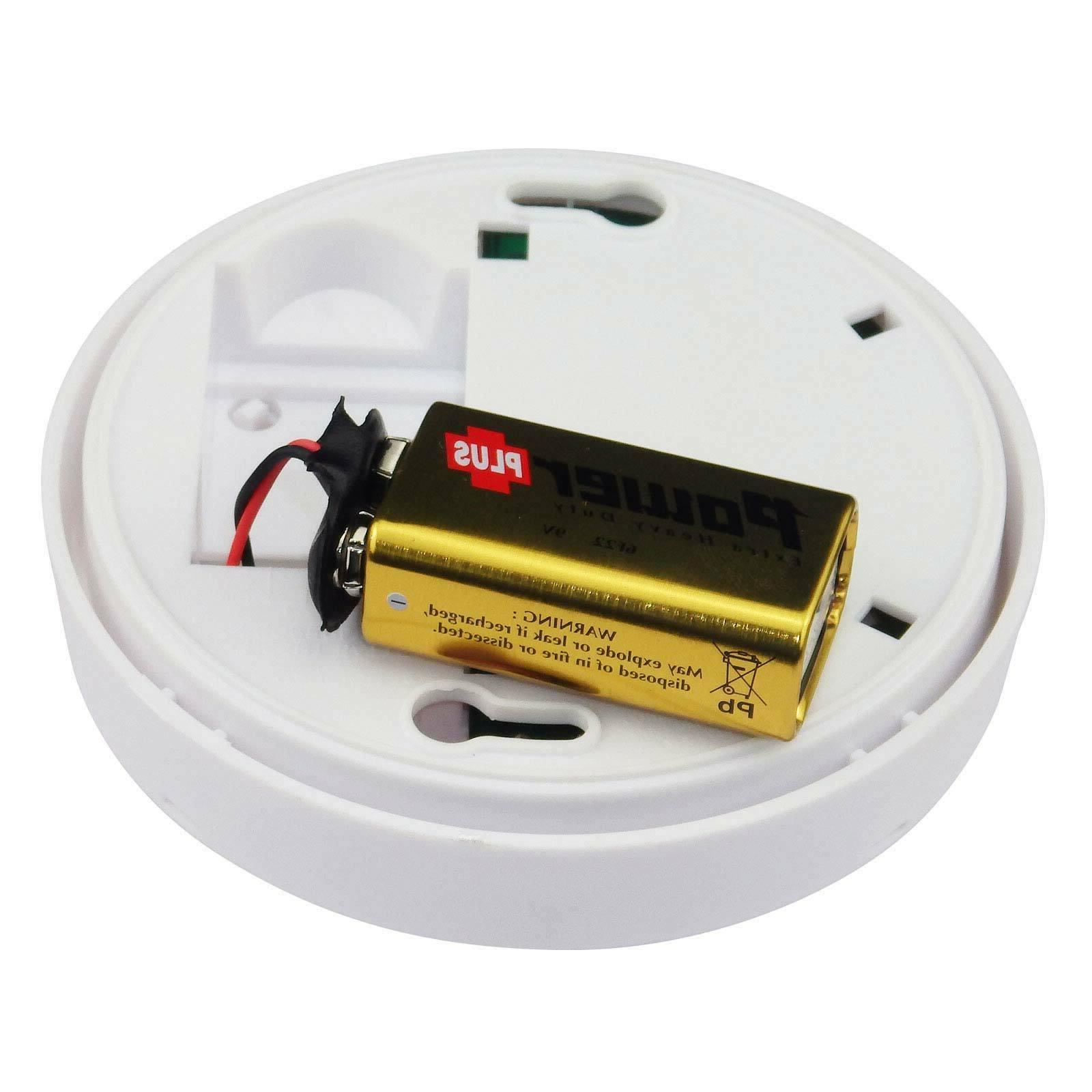 High Detective Home Smoke Detector Fire Alarm Battery Operated Sensor System