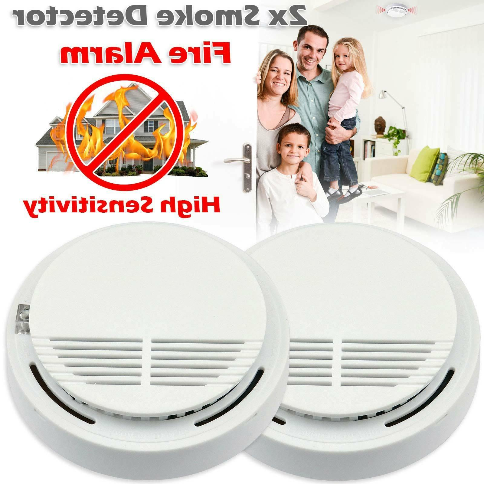high detective 2 x home smoke detector