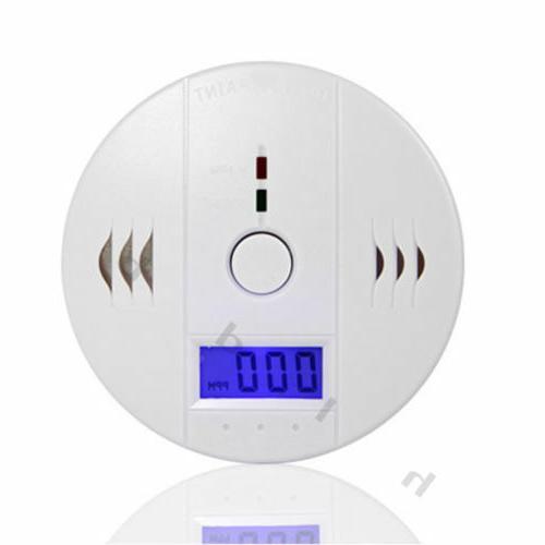 LCD CO Poisoning Smoke Warning Detector Tester