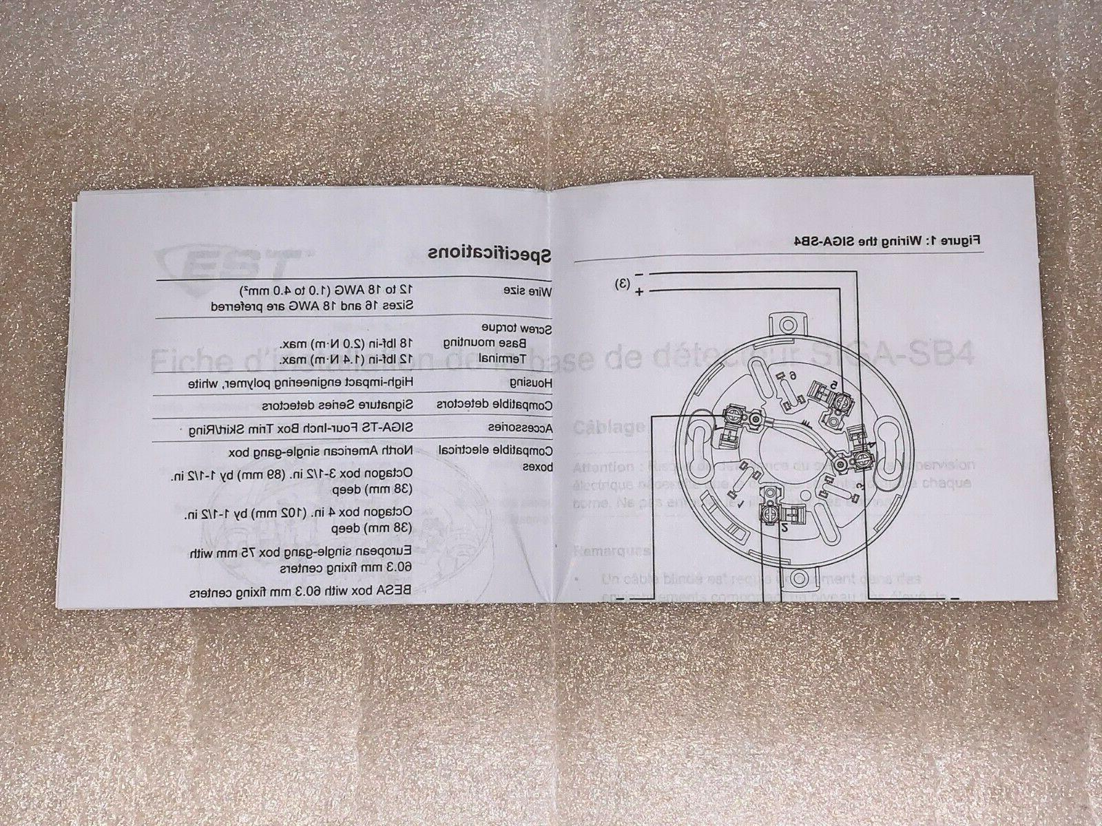 Lot of EST SIGA-SB4 Standard Smoke Detector Unused