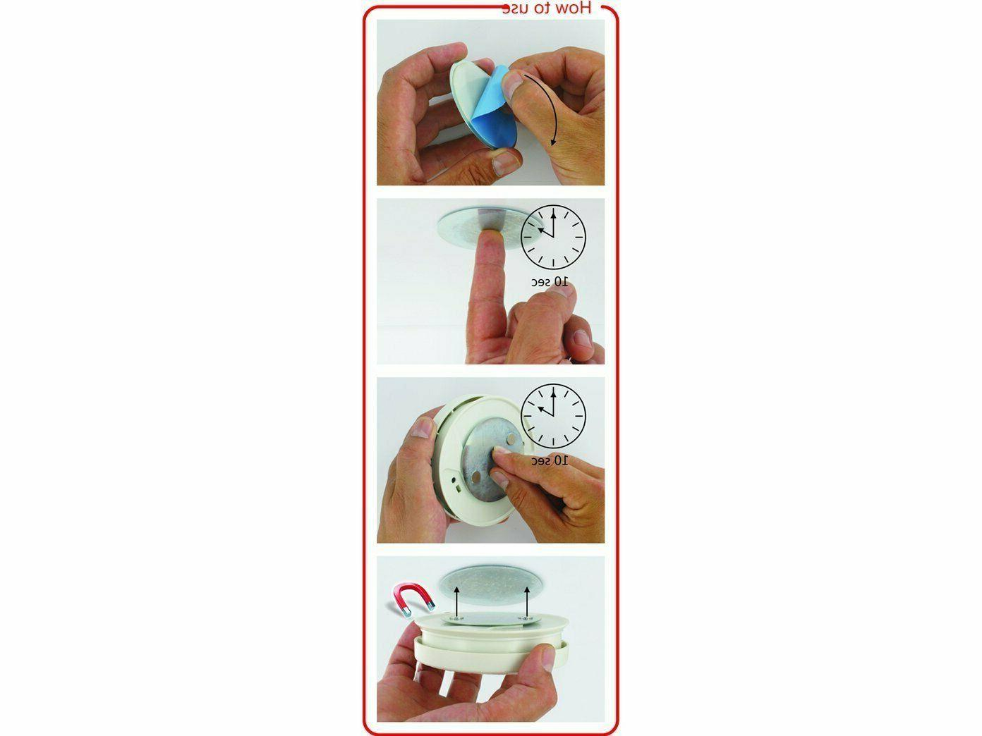 Magnetic Smoke Detector Tool and Fastening Ceiling Mount