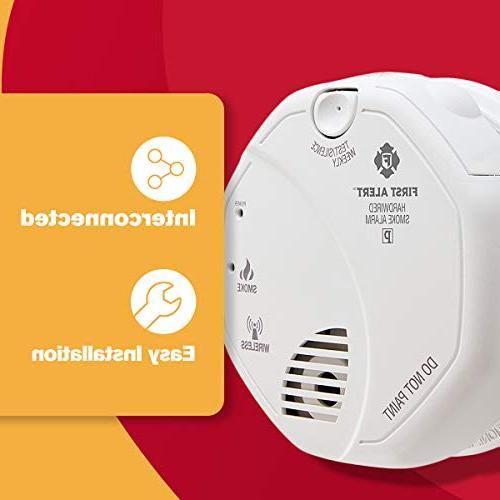 First one Wireless Smoke Alarm, 120 85 Db