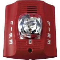 Fire Lite P2R Horn/Strobe, 12/24 Volt, Red, Multi-Candela 15